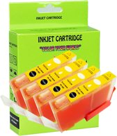 4 Pack Compatible Canon CLI-521 Y*4 inktcartridges, 4 pak. 4 geel,