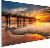 Zonsopgang aan de kust van Jacksonville in Florida Plexiglas 90x60 cm - Foto print op Glas (Plexiglas wanddecoratie)