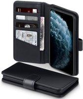 iPhone 11 Pro Max Bookcase hoesje - CaseBoutique - Effen Zwart - Leer