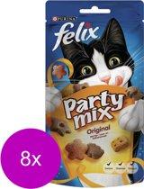 FELIX Snack Party Mix - Original - Kattensnack - 8 x 60 gr