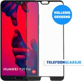 Huawei P20 Pro Glazen Screenprotectors (FULL COVER) (ZWART) | Tempered glass | Gehard glas
