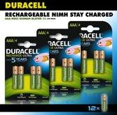 Duracell AAA Oplaadbare Batterijen - 850 mAh - 12 stuks