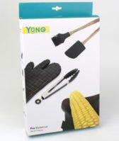 Yong 5-delige Pro Barbecue set BBQ handschoen tang