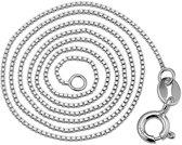 Zilveren Ketting - Venetiaanse Schakel - Halsketting Zilver - 45cm