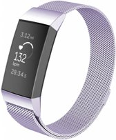 123Watches.nl Fitbit charge 3 milanese band - lavendel - SM