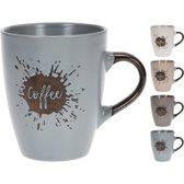 Beker aardewerk Coffee 320cc 90x105mm Koffiebekers