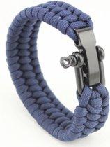 Paracord armband Blauw - RVS verstelbare sluiting