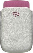 BlackBerry ACC-32840-201 Lederen Hoes - Wit / Roze