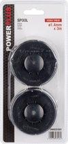 Powerplus POWACG1202 Set van 2 bobijnen voor grastrimmer – Ø1,4 mm x 3 m