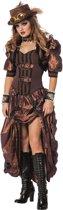 Steampunk Kostuum | Dark Steampunk Luxe | Vrouw | Maat 42 | Carnaval kostuum | Verkleedkleding