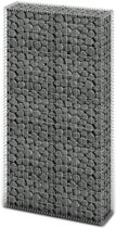 vidaXL Schanskorf 85x30x200 cm staal zilverkleurig