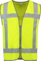 Tricorp - Veiligheidsvest RWS Rits - 453019 - fluor geel - maat 3XL-4XL