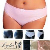 Lydia 3-pack Midi slip donker blauw/wit/roze maat XL