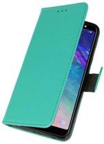 Samsung Galaxy A6 Plus 2018 Groen | bookstyle / book case/ wallet case Wallet Case Hoesje  | WN™