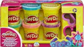Play-Doh 6 kleuren potjes met glitters - 336 gram  - Klei