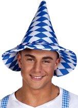Hoed Oktoberfest blauw/wit