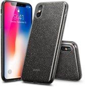 ESR iPhone 8 Plus hoes zwarte glitters chique design zacht TPU