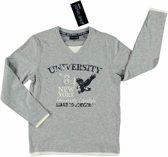 Blue Seven Jongens Shirt Grijs met V-hals - Maat 152