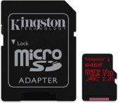 Kingston Technology Canvas React flashgeheugen 64 GB MicroSDXC Klasse 10 UHS-I