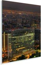 Nachtscène van Santiago in Chili Plexiglas 120x180 cm - Foto print op Glas (Plexiglas wanddecoratie) XXL / Groot formaat!