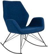 Norrut Nynne schommelstoel petrol blauw met zwart metalen onderstel