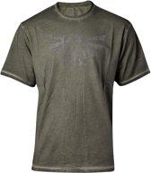 Zelda - Distressed Hyrule Logo Vintage T-shirt - 2XL
