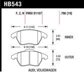 HB543F.760 - Hawk Performance HPS remblokken