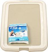 Duvo+ Pet Toilet puppytrainer Startpakket 60x60 Inclusief 7 Plasdoeken