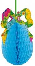 Paasei decoratie 40 cm  blauw