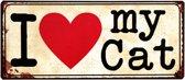 Tekstbord: I love my CAT