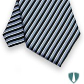 Heren stropdas blauw-zwart gestreept