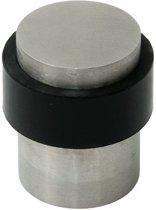 10x DX Deurstopper Vloermodel Vlakke Bovenkant RVS/Zwart 29x40mm DST V VB 29SF