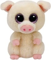 Ty Beanie Boo's Piggley pluche roze varkentje knuffel  15 cm