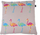 In The Mood Flamingo Multi - Sierkussen - 50x50 cm - Multi/Kiezel