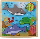 Toi-toys Houten Vormenpuzzel Oceaan 22 Cm