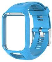 Blauw bandje voor Tomtom Adventurer, Tomtom Spark, Tomtom Spark 3, Tomtom Runner 2, Runner 3 - Golfer 2 - horlogeband - polsband - strap