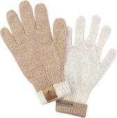 Wollen Handschoenen Beige/Creme omkeerbaar, pure baby alpaca wol