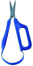 Schaar Easi-Grip zelfopenend met 1 vingergreep rechts blauw spits kort