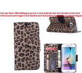 Xssive Hoesje voor Apple iPhone 6 Plus / 6S Plus - Book Case - Luipaard Print