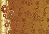 Fotobehang Flowers Abstract | DEUR - 211cm x 90cm | 130g/m2 Vlies