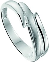 The Jewelry Collection Ring Poli/mat - Zilver