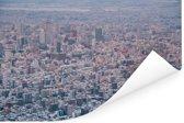 Een luchtfoto van de enorme wolkenkrabbers van Sapporo-shi Poster 120x80 cm - Foto print op Poster (wanddecoratie woonkamer / slaapkamer) / Aziatische steden Poster