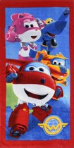 Super Wings 4 hero's - Strandlaken - 70 x 140 cm - Multi