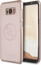 Guess Rosé Goud 4G Brushed Metallic Case Samsung Galaxy S8 Plus