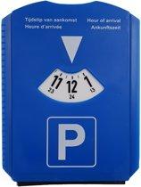 Sundaze Blauwe Parkeerschijf - Hard plastic - Incl. Ijskrabber en Rubberen veger