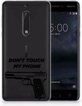 Nokia 5 Uniek TPU Hoesje Pistol DTMP