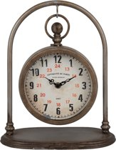 Tafel Klok bruin 29 x 24 cm | 6KL0481 | Clayre & Eef