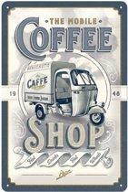 The Mobile Coffee Shop Metalen Bord 20 x 30 cm