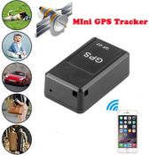 GF-07 Mini real-time GPS tracker tracking device -Mini GPS tracker Volg Systeem Voor kind / Auto / Scooter / Fiets / Kat / Hond - Zwart