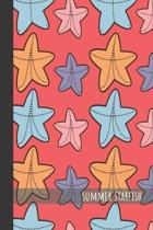 Summer Starfish: small lined Starfish Notebook / Travel Journal to write in (6'' x 9'') 120 pages